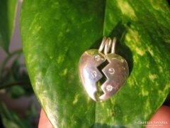 Kettétörhető 925 SZÍV ezüst medál ezüstmedál