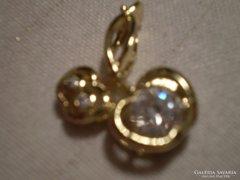 ALMÁS swarowsky gold filled medál