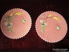 SZECESSZIÓS dísztányér páros fajansz tányér 1908