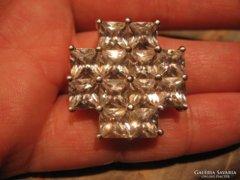 9,9gr!!! szikrázó csiszolt köves 925 ezüstmedál ezüst medál