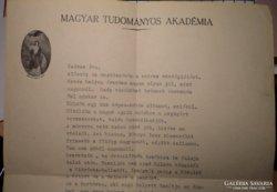 Kerényi György levél + könyv.