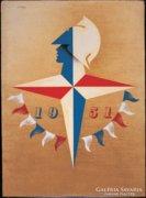 1951 art deco francia poster reprodukció.