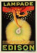 Lampade Edison art deco poster.