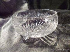 Gyönyörű kristály kínáló 14 cm