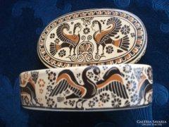 Kézzel festett,szignált,KORINTHOSZI-múzeumi másolat