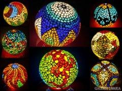 Mozaik technikával díszített hangulatlámpák