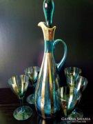 VINTAGE BOHEMIA  karaffa + 5 pohár
