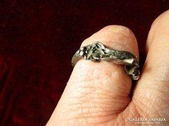 EZÜST RÓMA -I kori gyűrű nagy méretü méret 19 mm