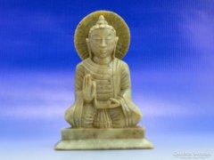0B142 Tibeti márvány meditáló buddha szobor