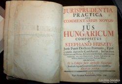 Stephano Huszty.Jurisprudentia...1745.Első kiadás!