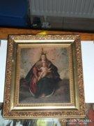 Réz lemezre festett szentkép