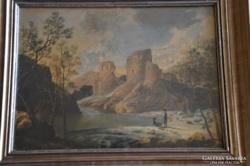 Id. Markó Károly köre festmény F. Markó szignóval