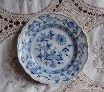 Antik Meisseni hagymamintás sütis tányér