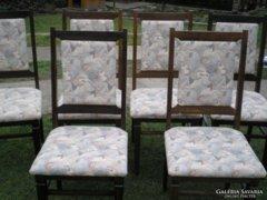 Art deco szék 6 db. szék, -SZÉP,SZÖVET HUZATTAL