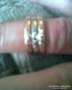 14 karátos köves arany gyűrű 5,6 gr.,56-s méret