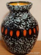 Kerámia váza, retro, jelzett