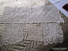 ART DECO Teritő garnitura értékes kézimunka 4 db