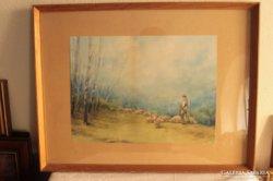 Női festő: Birkanyáj