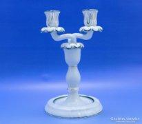 0B634 Herendi porcelán kétágú gyertyatartó