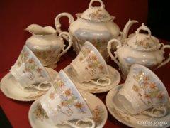 5 szem. antik szecessziós teáskészlet