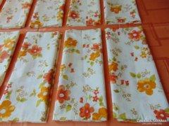 Narancssárga begónia virágos párnahuzat - 2 db