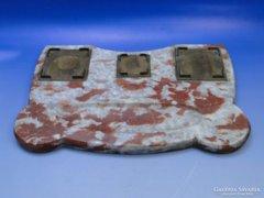 0B401 Antik márvány íróasztali kellék tintatartó