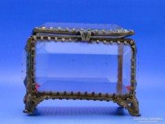 0B429 Múlt századi csiszoltüveg szelence MARIAZELL
