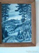 Kerámia,kobalttal festett falikép