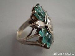 Régi csodaszép köves ezüst koktélgyűrű