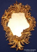 Nagy barokk angyal motívumos tükör 128x90cm