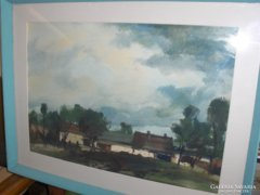 Wentréger Adolf festménye: Eső után c.