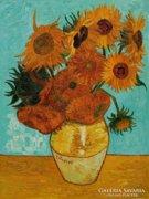 Művészeti reprodukció Van Gogh Napraforgók