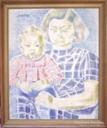 Járitz Józsa (1893-1986): Anya gyermekével