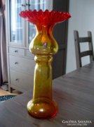 ZABKOWICE, régi lengyel üveg váza