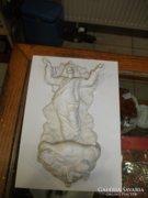 Bisquit figurális szenteltvíztartó