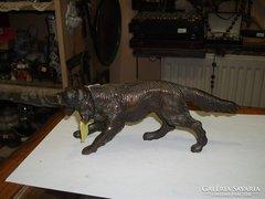 Bronz kutya figura