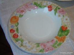 Cseresznye virágos mély tányér 2 darab