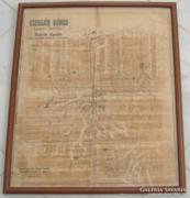 CZEGLÉD VÁROS LEGÚJABB FALITÉRKÉPE SÁRIK GYULA1914