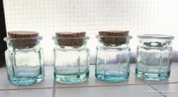 Antik befőttes üveg, díszüveg