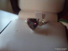 Szivárvány topáz köves ezüst gyűrű