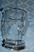 Nagyméretű, metszett üveg kancsó
