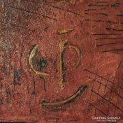 Arc a háttérből - eredeti,modern absztrakt festmény