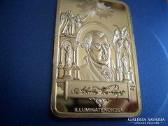 """SZABADKŐMŰVES """"TÉGLA""""!---999.GOLD CLAD!---"""