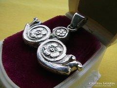 Ezüst medál középkori ládaveretből, 10,4 gr