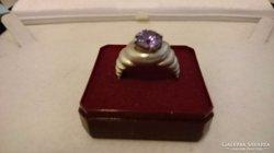 Szép ametiszt ezüst gyűrű