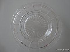 Üveg süteményes tányér, pótlásnak