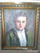 Leáraztam! Szöllösy János (1884) festménye: Cigarettázó ifjú