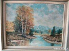 Nagyon szép olaj-vászon festmény