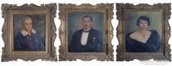 0C230 Mokossiny Kató 3 db családi portré
