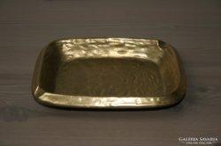 Antik sárgaréz hamutartó tömör tekintélyes súlyú darab
